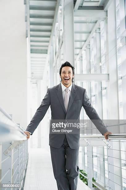 laughing businessman - oliver eltinger stock-fotos und bilder