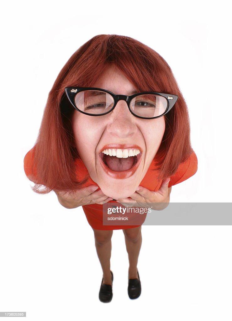 Laughing Geek : Stock Photo