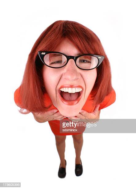laughing geek - hysteria stock pictures, royalty-free photos & images
