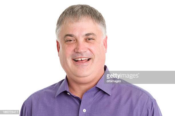 Lachen Mann Nahaufnahme Portrait
