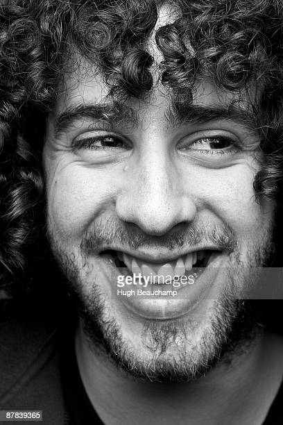 Laughing Man with Curly Hair