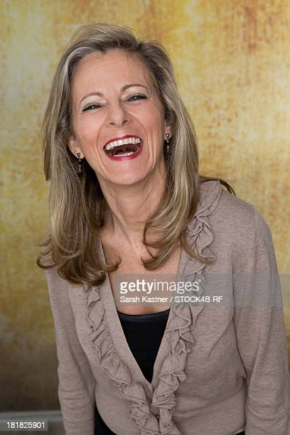 Laughing mature woman