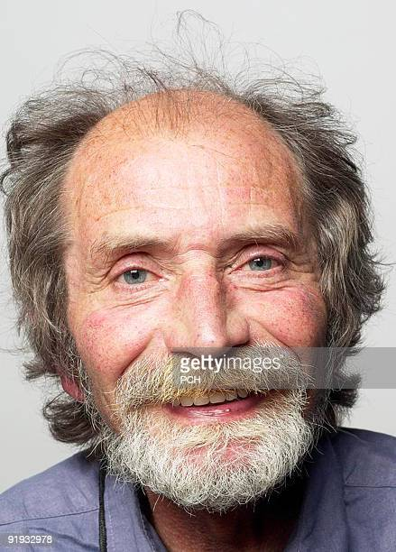 laughing old man - receding hairline stock pictures, royalty-free photos & images
