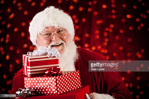 Laughing Santa With Gifts