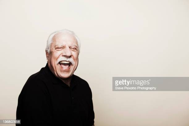 Laughing senior man