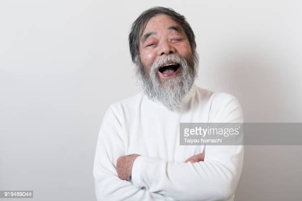 Laughing senior