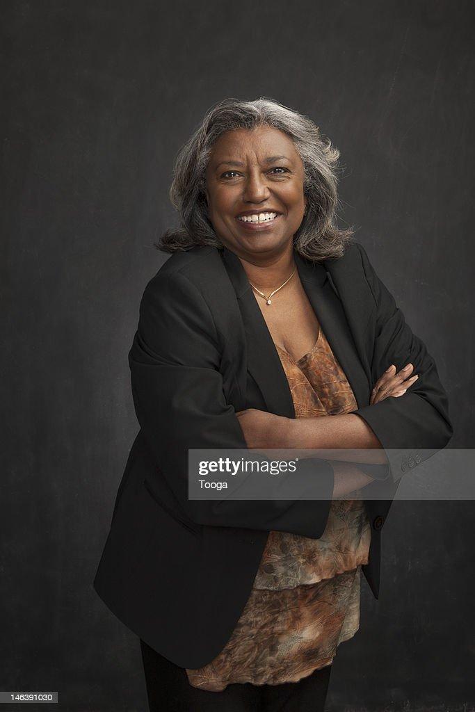 Laughing senior woman : Stock Photo
