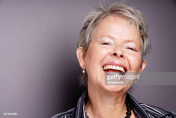senior Frau Lachen