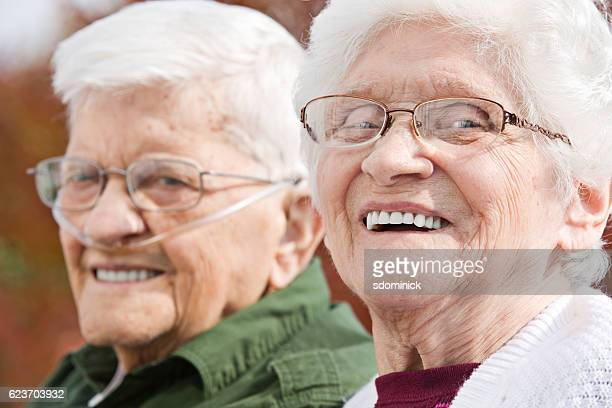laughing seniors couple - chronic obstructive pulmonary disease stock photos and pictures