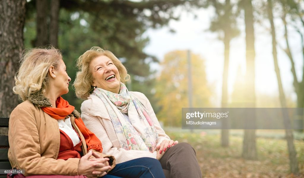 Laughing seniors. : Stock Photo