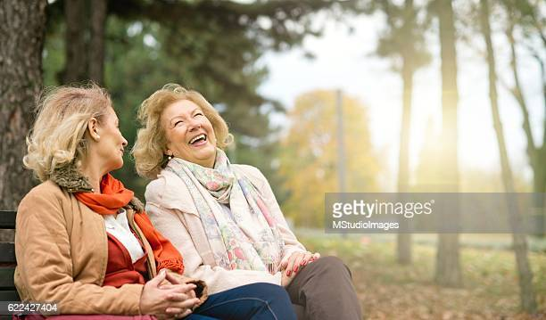laughing seniors. - zus stockfoto's en -beelden