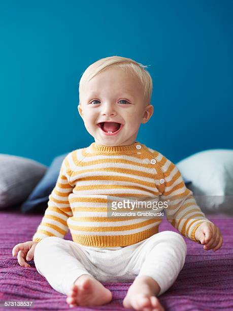 Laughing Toddler Boy with Teeth
