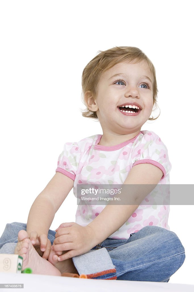 laughing toddler : Stock Photo
