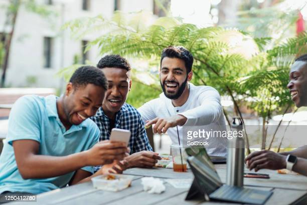 laughing together! - meme stock pictures, royalty-free photos & images
