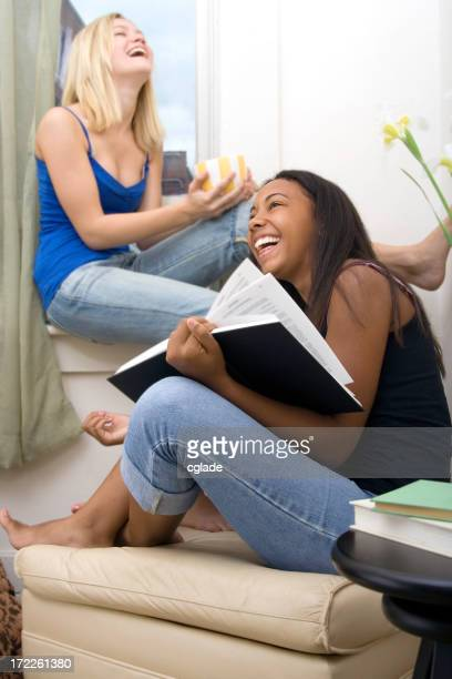 Laughing while cramming