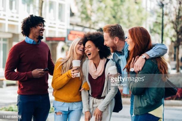 laughing with friends - millennial generation stock pictures, royalty-free photos & images