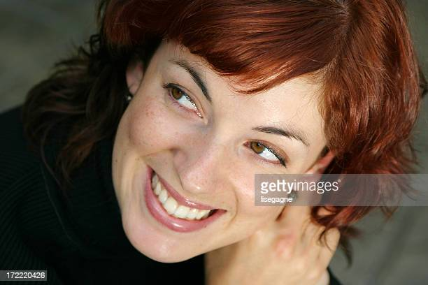 Laughing young woman, close-up