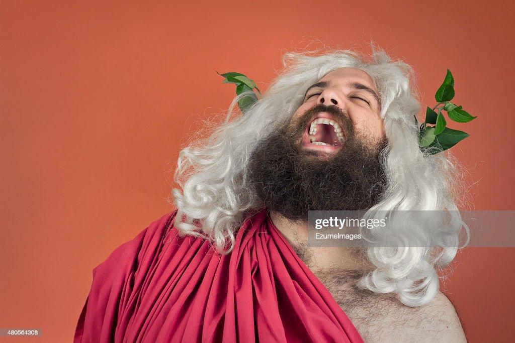 Laughing Zeus : Stock Photo