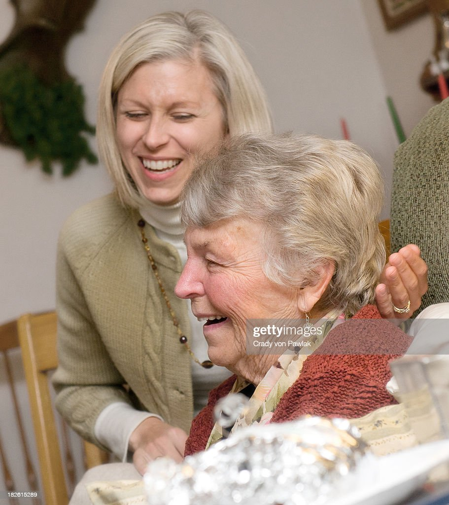 Laughter - Grandmother and Granddaughter : Stock Photo