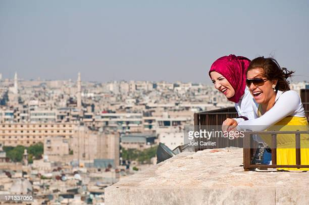 Laughter in the Arab world - two women in Aleppo