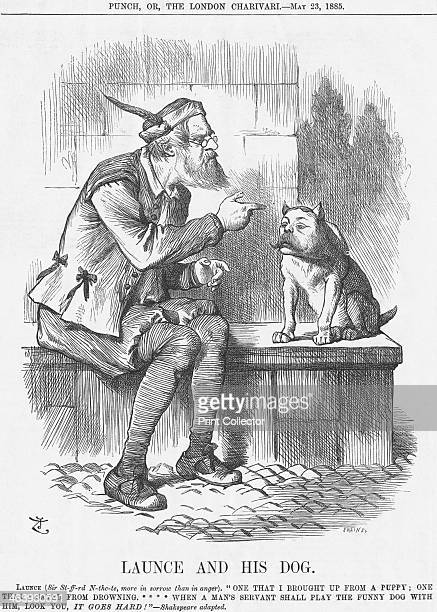 'Launce and his Dog' 1885 The little dog is Lord Randolph Churchill the Conservative head of a group known as the Fourth Party He had long been an...