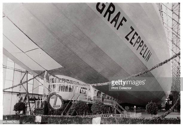 Launch ceremony for Zeppelin LZ127 'Graf Zeppelin' Friedrichshafen Germany 9th July 1928 The 'Graf Zeppelin' was the most successful airship ever...