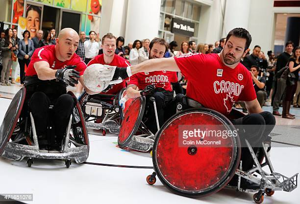 Launch event held at the CBC on Front St for the 100 days to ParaPan with speakers and a demonstration by Canada s wheelchair rugby team. With David...