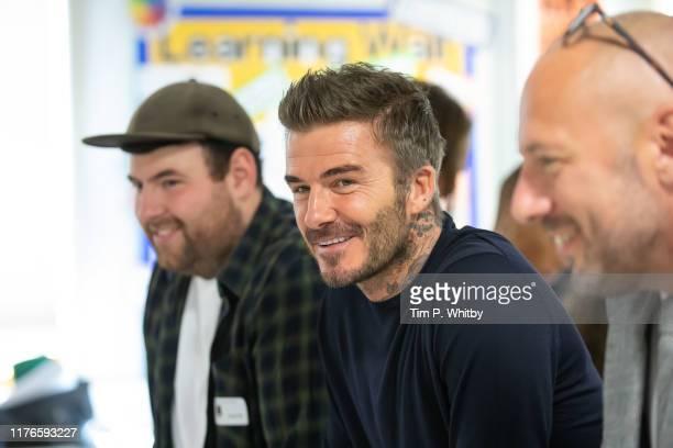 BFC launch fashion studio apprenticeship with ambassadorial president David Beckham at Prendergast Vale School on September 23 2019 in London England