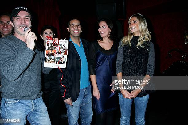 Launch Of 'Calendrier Du Coeur 2009' With Cartouche In Aid Of Associations The Small Citizens And Star Child And Cabaret Game The Billionaire In...