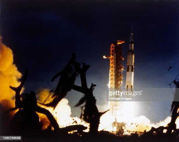 Launch of Saturn V rocket, Kennedy Space Center, Merritt Island, Florida, USA, 7 December 1972. Apollo 17 was the last Apollo Moon landing mission...