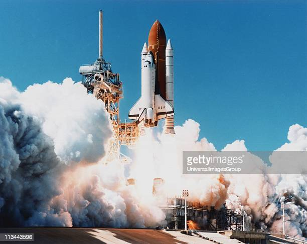 Launch of Space Shuttle Columbia from Kennedy Space Center Florida 4 April 1997 NASA photograph