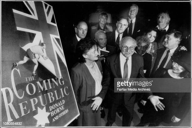 Launch of 'The Coming Republic' by Donald Horne and Otherat the state LibraryLeft to RightDes Griffin Myfanwy Gollan Elizabeth Evatt Gough Whitlam...