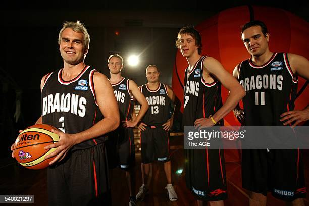 Launch of The South Dragons basketball team in Melbourne. From left, captain Shane Heal, Jacob Holmes, Matt Shanahan, Joe Ingles and Frank Drmic, 6...