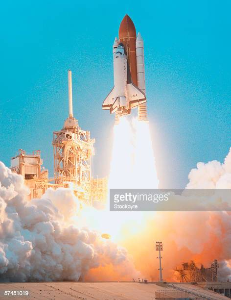 Launch of the space shuttle