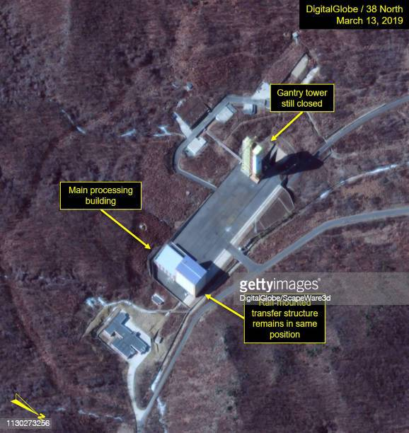 1D Launch pad observed at Sohae Satellite Launch Facility on March 13 Mandatory credit for all images DigitalGlobe/38 North via Getty Images