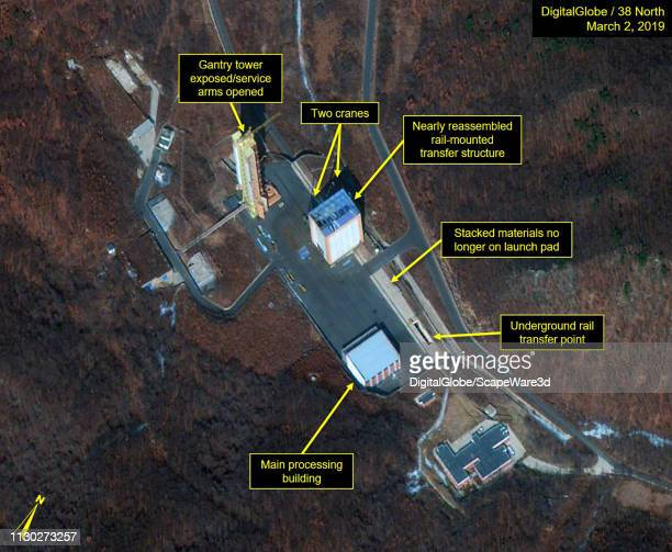 1A Launch pad observed at Sohae Satellite Launch Facility on March 2 Mandatory credit for all images DigitalGlobe/38 North via Getty Images