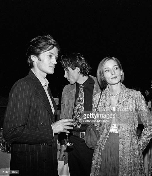 Launch Party for Yves Saint Laurent Fragrance 'Champagne' on September 12 1994 at Statue of Liberty in New York City New York United States Pictured...