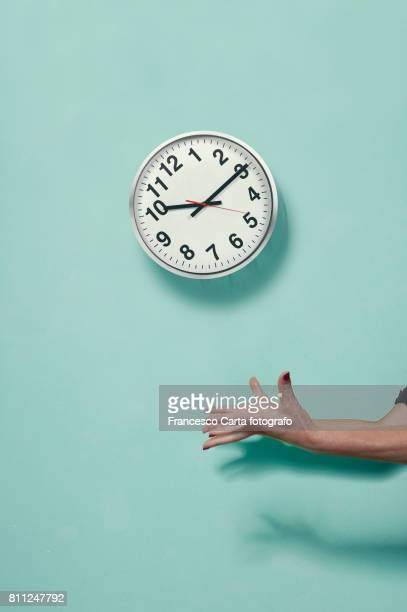 launch time in the air - wall clock stock photos and pictures