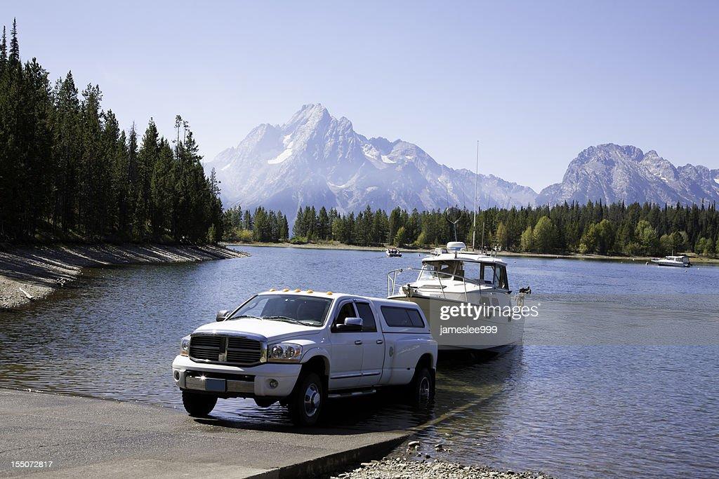 Launching at Boat Ramp : Stock Photo