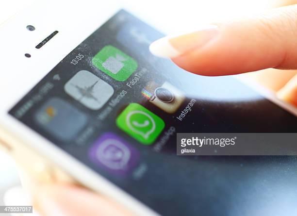Lanzamiento de la aplicación Instagram en iPhone 5s