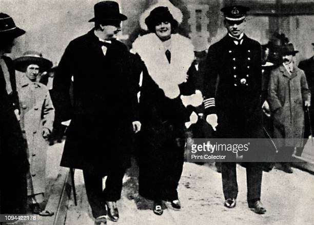 Launching of HMS 'Iron Duke'' British politician and statesman Sir Winston Churchill and his wife Clementine at the launch of HMS 'Iron Duke' a...
