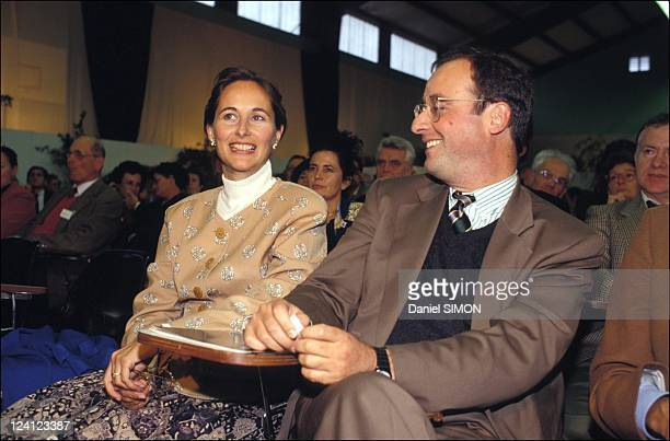 Launching of the club 'temoin' by Jacques Delors in Lorient France on October 04 1992 Segolene Royal and Francois Hollande