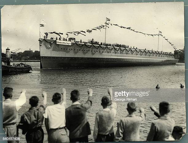 Launching of the new German armored ship 'C'