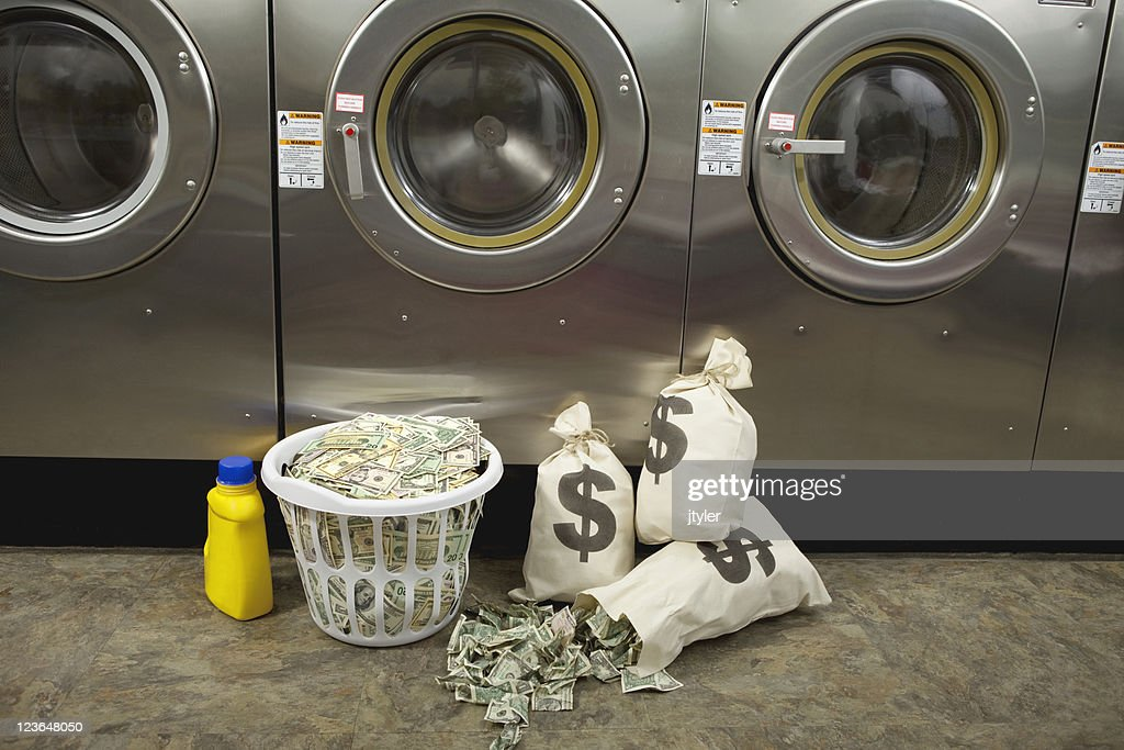 Laundering Money : Stock Photo