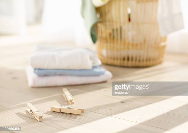 Laundry and clothespins