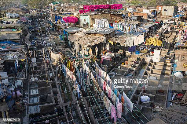 Laundry area, Dhobi Ghat, Mumbai, India