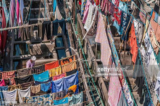 Laundry at Dhobi Ghat  in Mumbai, India