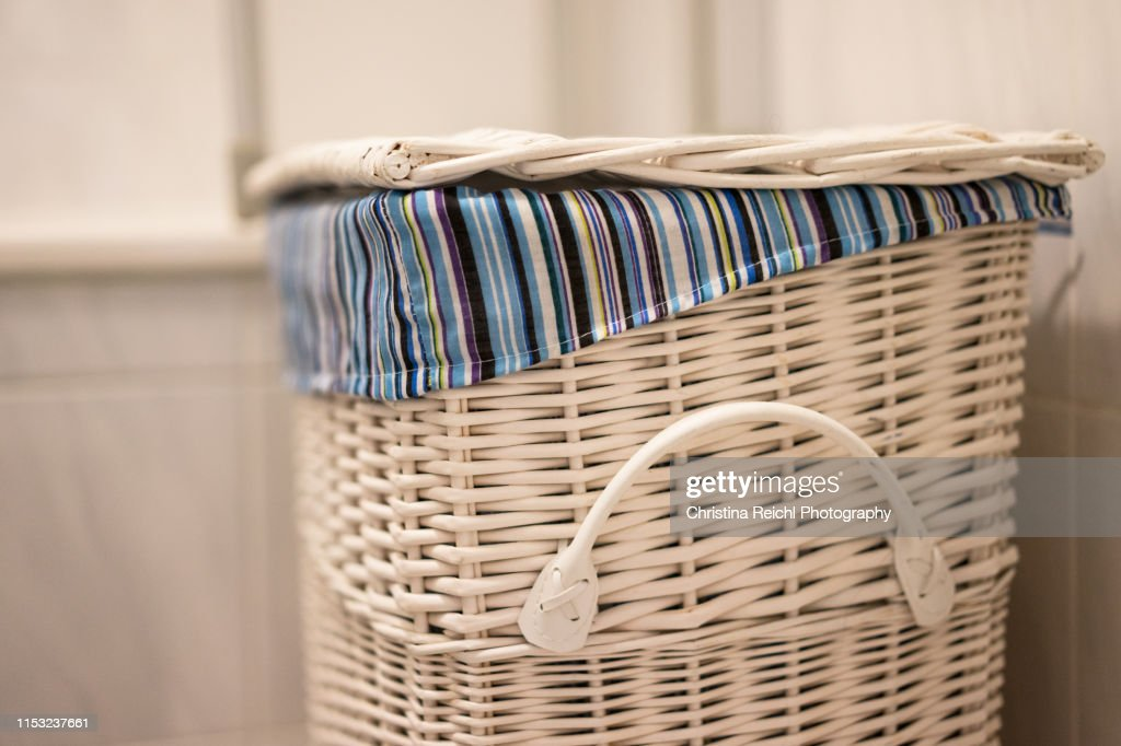 Laundry Basket In Bathroom High Res