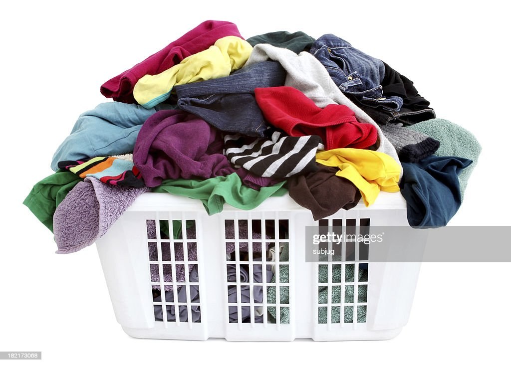 Laundry basket : Stock Photo