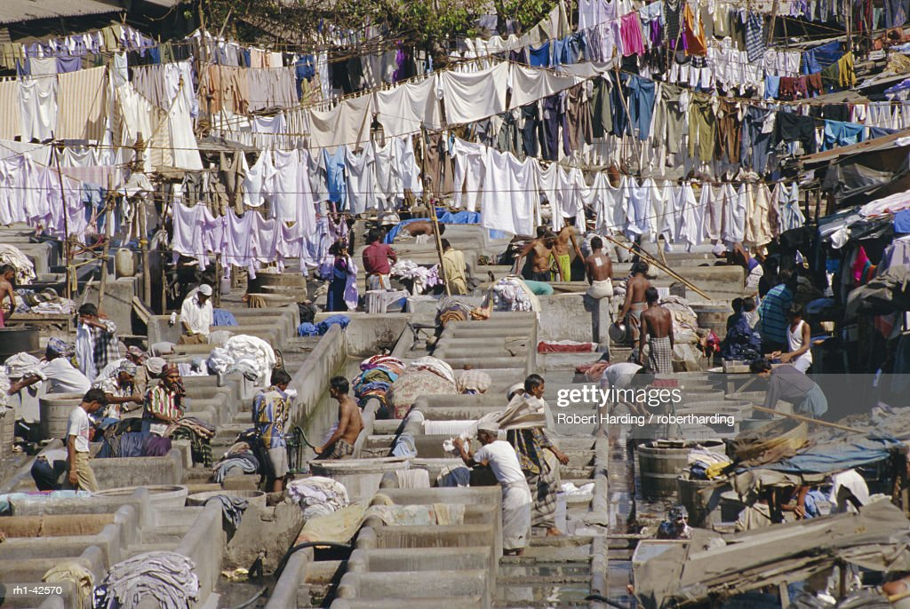 Laundry, Bombay, India : Foto de stock